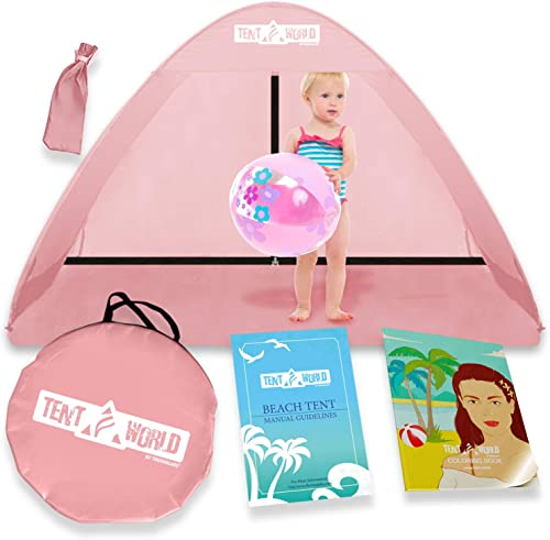 Pop Up Beach Baby Tent for Toddler, Kids, Girls, Boys, Infant Babies. Popup Sun Protection Shelter Canopy for Camping Travel Bebe Toddlers Backyard Indoor Small Play Shade Cabana Dome
