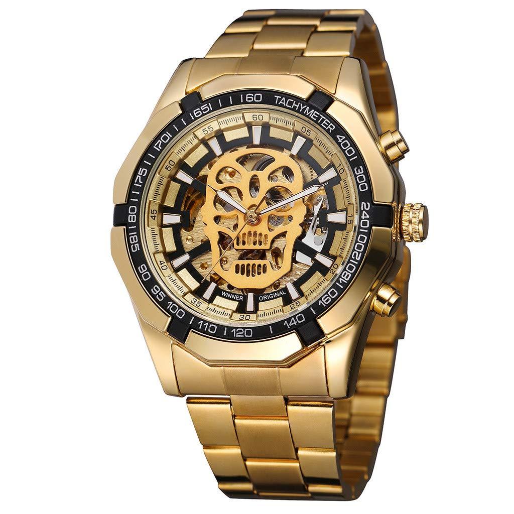 LUXISDE Quartz Watch Mens Digital Wrist Watch Clock Hollow Dial Luxury Design Business Fashion Mens Mechanical Watch