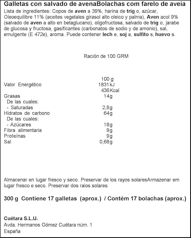Cuetara - AvenaCol - Galletas digestivas - 300 g: Amazon.es: Alimentación y bebidas