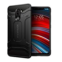 KAPAVER Xiaomi Poco F1 Phone Back Cover Case Drop Tested Shock Proof Carbon Fiber Armor Black (Poco Phone) (Limited Offer Price)