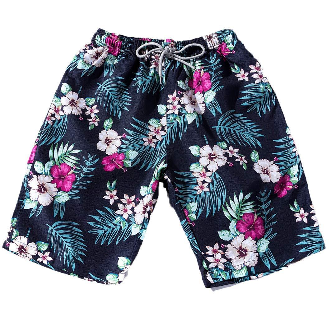 Men Summer Beach Shorts Couples Beach Floral Swim Shorts Trunks Nickel Pants