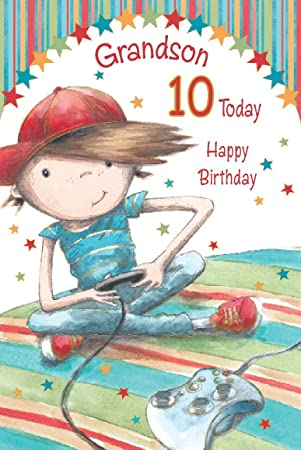 Grandson Happy 10th Birthday Card