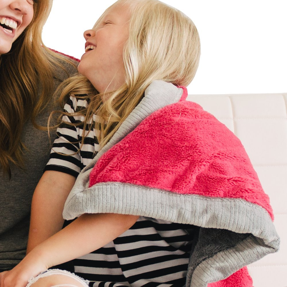 Saranoni Receiving Blankets For Babies Super Soft Boutique Quality Lush Luxury Baby Blanket (Lipstick Gray, Receiving Blanket 30'' x 40'')