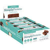 SimplyProtein Bar, 1g Sugar, Plant Based, Dairy Free - Chocolate Coconut 15 Count