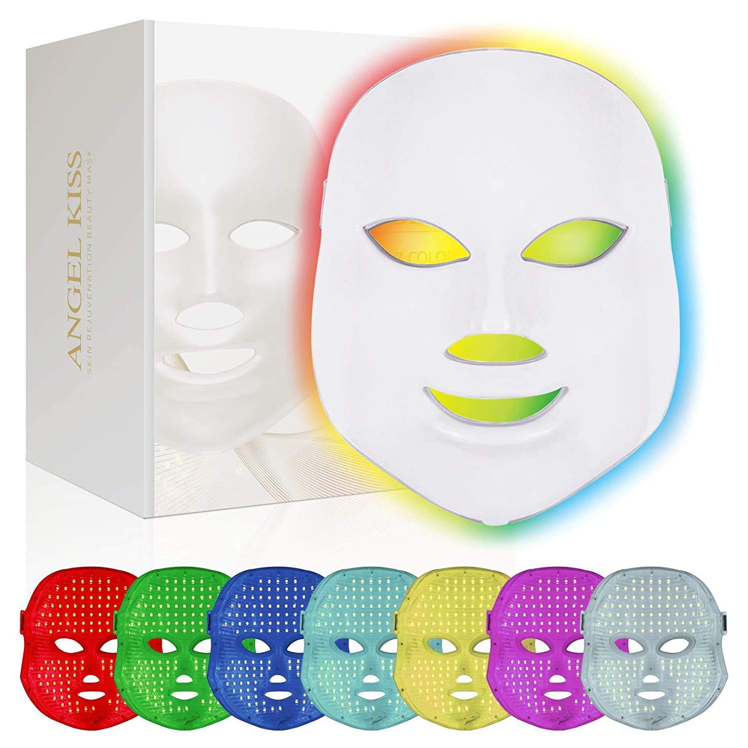 Led Face Mask -Angel Kiss 7 Color Light Therapy Mask