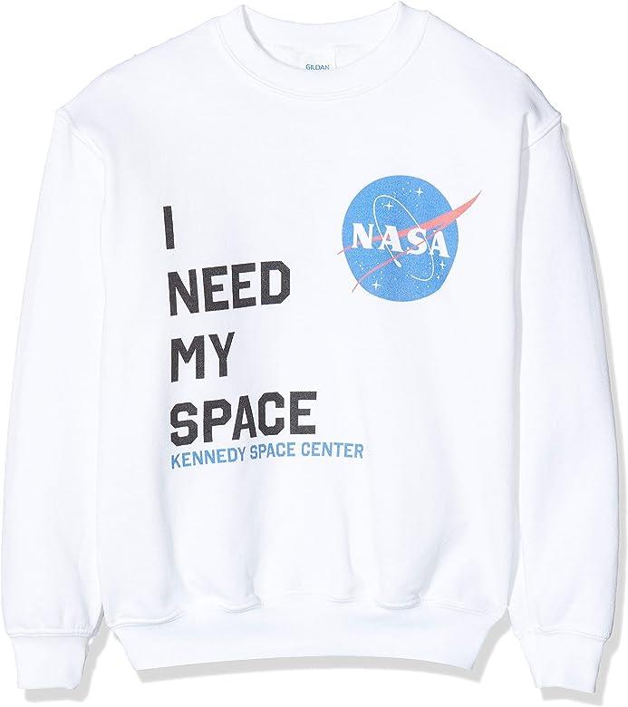 Brands In Limited NASA I Need My Space Capucha, Blanco (White Wht), 5-6 años (Talla del Fabricante: 5-6Y) para Niños: Amazon.es: Ropa y accesorios