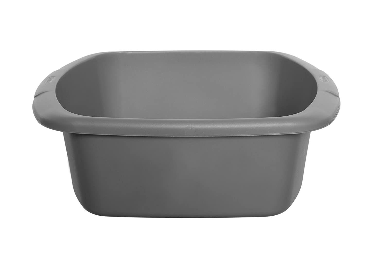 Whitefurze Plastic Small Rectangular Washing Up Kitchen Sink Bowl Silver      Amazon.com