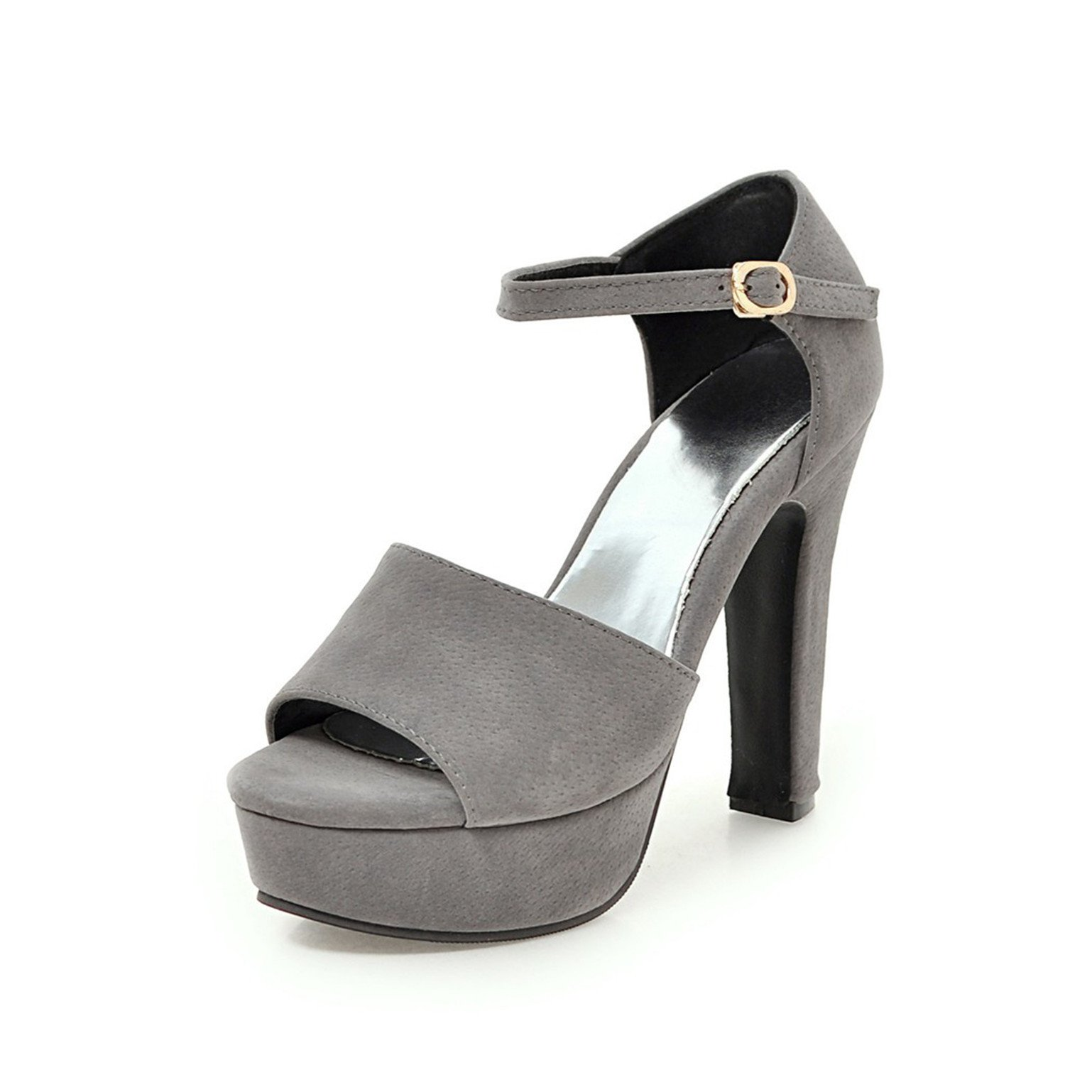 6dc497d790e33f 100FIXEO Women Sexy D Orsay Platform Sandals Peep Toe D Orsay Sexy Comfy  Chunky Heels Ankle Strappy Pumps Shoes B07D3Q7CYD 6 (B)M US