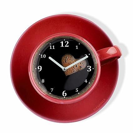 Orologio da parete da cucina LA TAZZINA, tazza rossa per il caffè ...