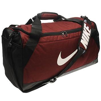 0014540dc98 Nike Brasilia Medium Holdall Burgundy Sports Kit Bag Gymbag Carryall ...