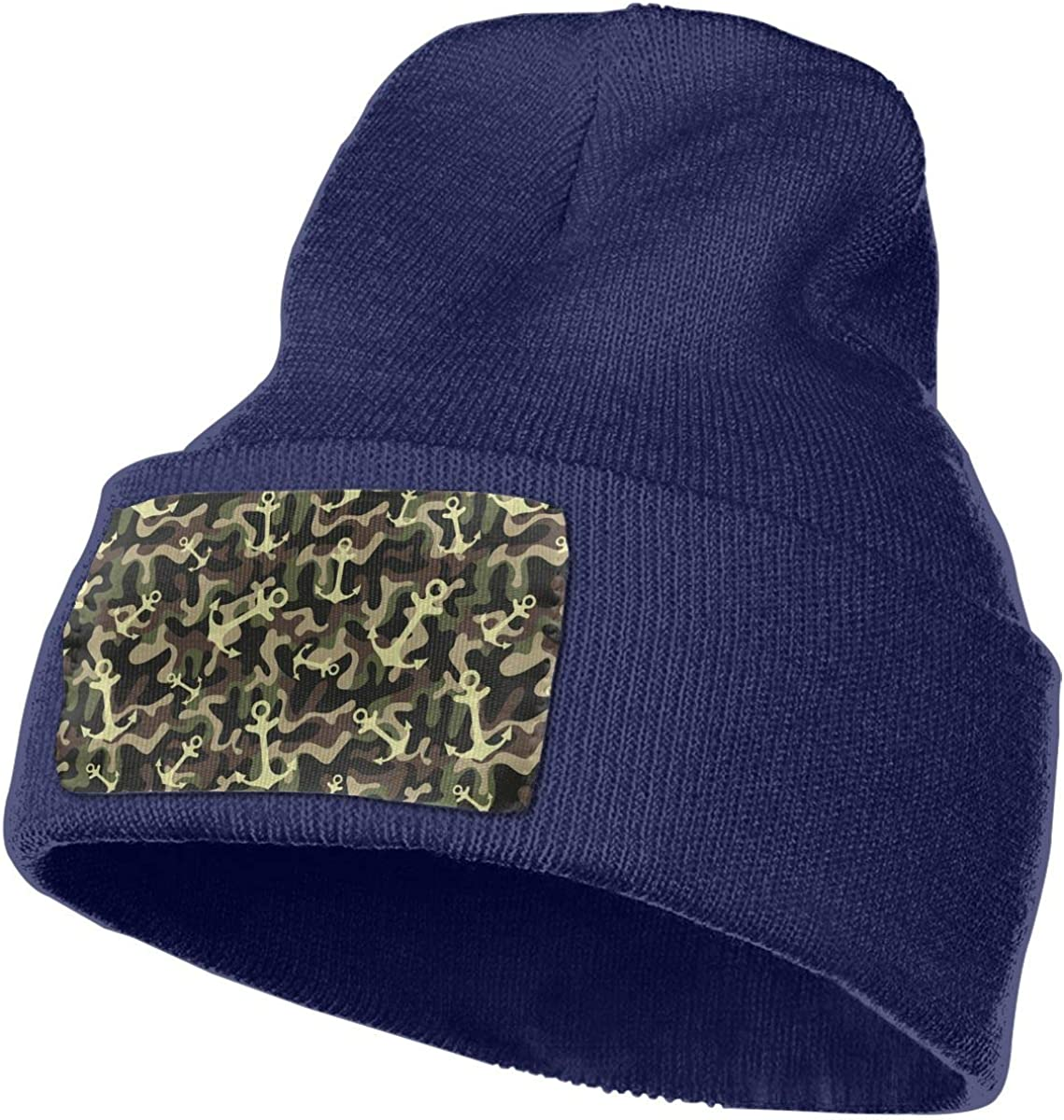 Anchor On Camouflage Military Unisex Fashion Knitted Hat Luxury Hip-Hop Cap