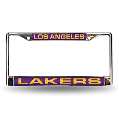 NBA Rico Industries Laser Cut Inlaid Standard Chrome License Plate Frame, Los Angeles Lakers : Sports Fan License Plate Frames : Sports & Outdoors