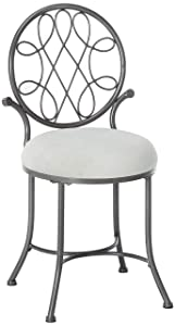 Hillsdale O'Malley Vanity Stool, Gray
