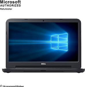 Dell Latitude 3450 14 Inch Business Notebook PC, Intel Core i3 5005U 2.0GHz, 8GB DDR3L, 128 GB SSD, WiFi, VGA, HDMI, Windows 10 Pro 64 Bit-Multi-Language Supports English/Spanish/French(Renewed)
