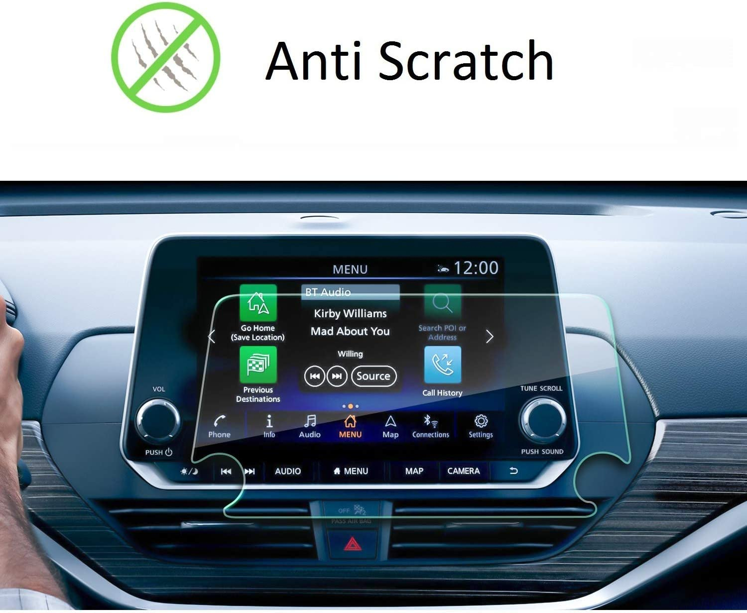 Screen Protector Compatible with Nissan Altima 8 inch Touch Screen,SATIS,2020 Nissan Altima,Shock-Resistant Navigation Accessories