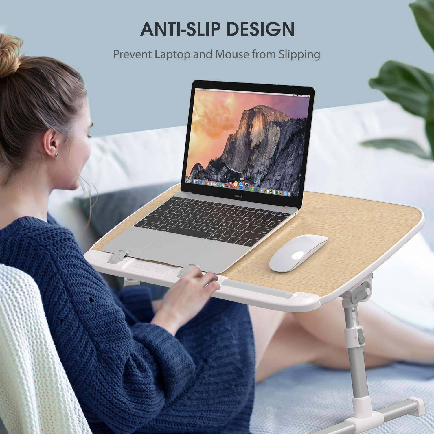 Height Adjustable Notebook Computer Stand for Reading Writing on Bed Couch Sofa Floor