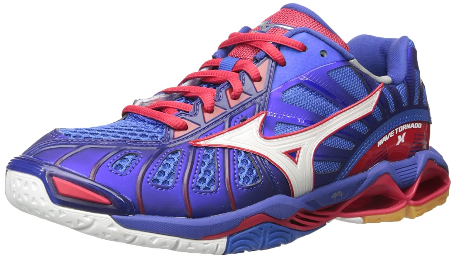 Mizuno Men's Wave Tornado X Volleyball-Shoes B01N943LXB 14 D(M) US|Mazarine Blue/Lollipop