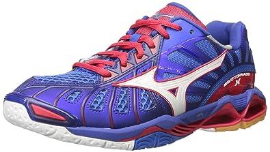 Mizuno Men's Wave Tornado X Volleyball-Shoes, Mazarine Blue/Lollipop, ...