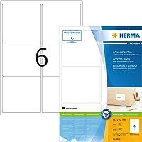 Herma 4653_ A4, 99,1 x 93,1 mm - Pack de 600 etiquetas de dirección, A4, 99.1 x 93.1 mm, color blanco