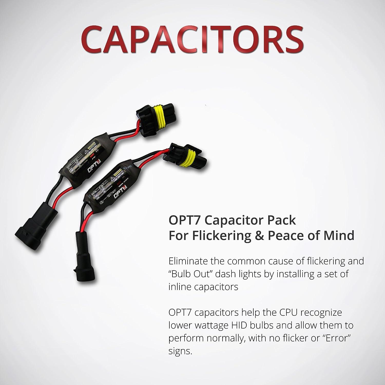 OPT7 HID Anti-Flicker Capacitors Warning Light Canceler Error Eliminator Opt Hid Kit Wiring Diagram on
