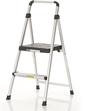 Resin Steps Cosco Two Step Steel Step Stool without Handle Platinum//Black