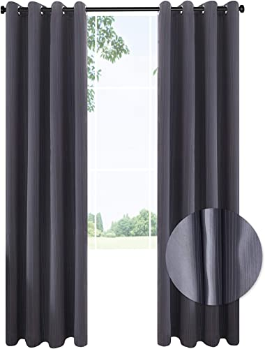 Best window curtain panel: CANIRICA Blackout Curtains 2Pack Panels Thermal Insulated Window Curtains Panels Grommet Room Darkening Curtains 52Wx95L,Grey,2packs