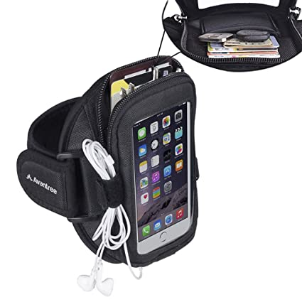 Avantree iPhone 8 / 7 / 6 / 6S Sports Running Armband with Key Holder / Card Pouch, Fits for 4.7 inches Samsung Galaxy Huawei or below Mobile Phones - ...