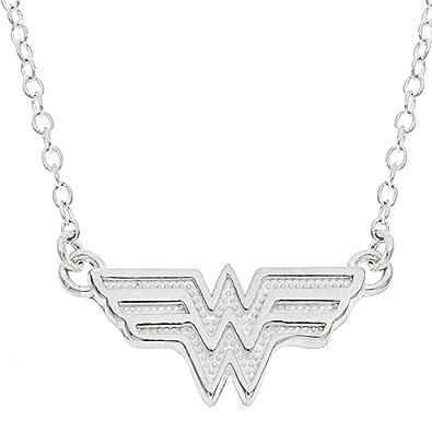 Amazon dc comics wonder women sterling silver pendant necklace dc comics wonder women sterling silver pendant necklace 18quot aloadofball Images