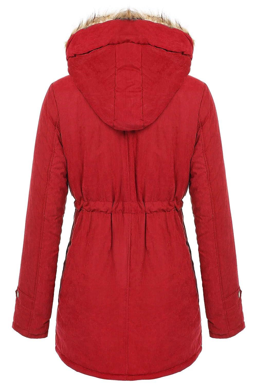 5689b11375b8 Amazon.com  Women s Winter Thicken Warm Hooded Packable Down Jacket Outwear  Coat Plus 3XL  Clothing
