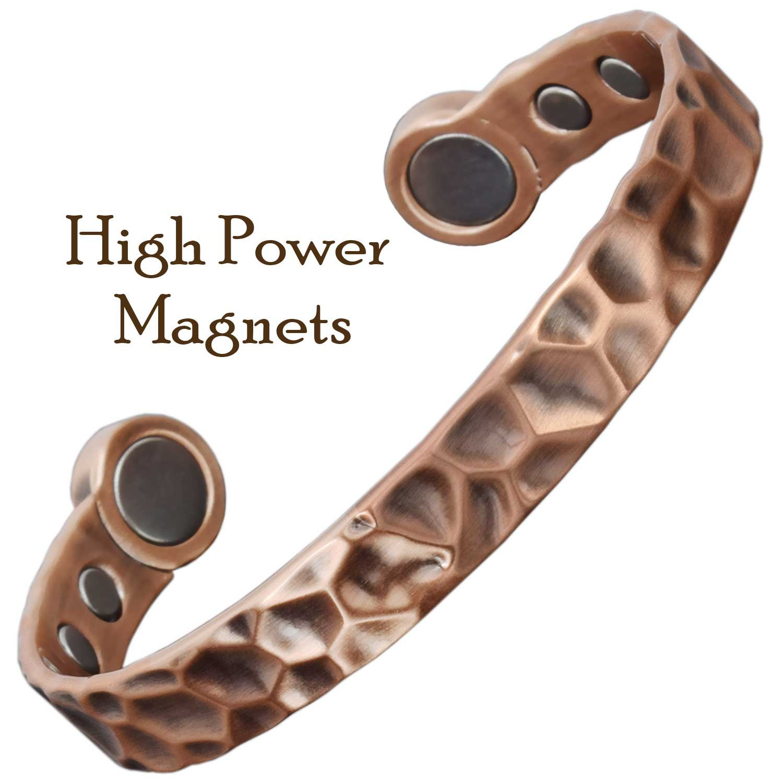 Fuerte Magnético Pulsera para hombre pulsera de curación de cobre para la artritis alivio del dolor terapia magnética pulsera pulsera de Golf caja de regalo ...