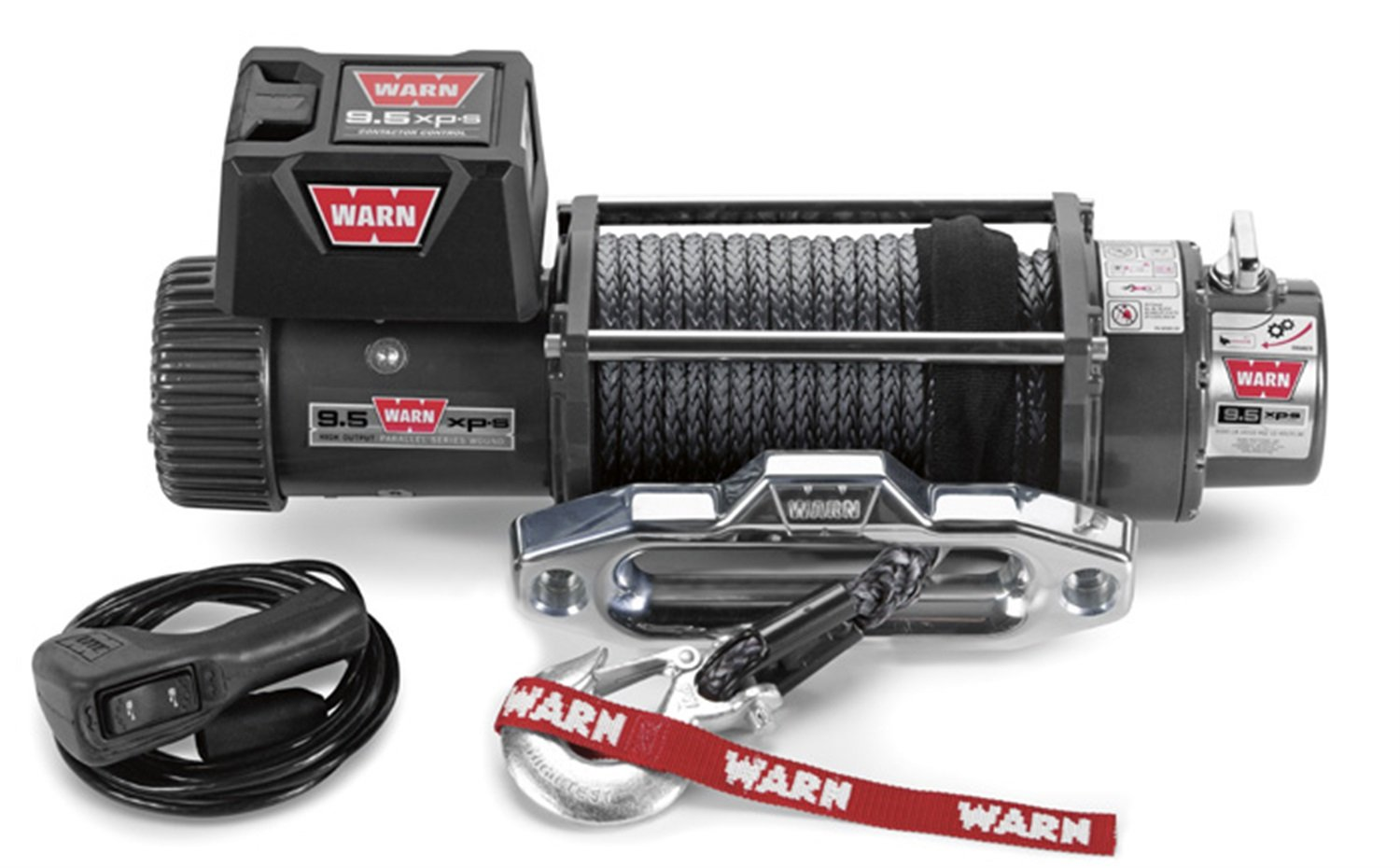 Warn 87310 95xp S Winch With Synthetic Rope Automotive Xd9000i Wiring Diagram Free Picture