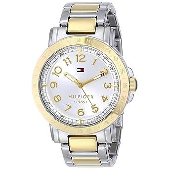 8fa4ddb4f Tommy Hilfiger Liv - Reloj de cuarzo para mujer, con correa de acero  inoxidable chapado, color multicolor: Amazon.es: Relojes