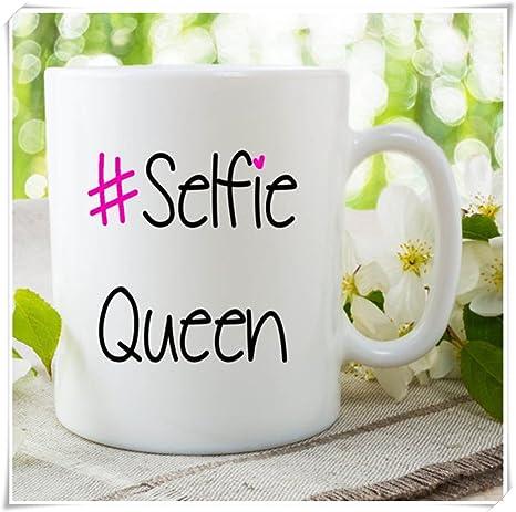 Amazon.com: Selfie Queen tazas regalo para amigo mejor amigo ...