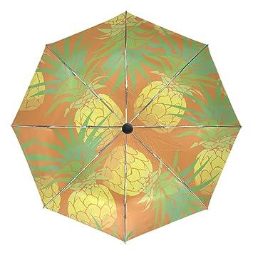 05c5f62614d1 BAIHUISHOP Pineapple Tropical Windproof Rain Umbrellas Auto Open ...