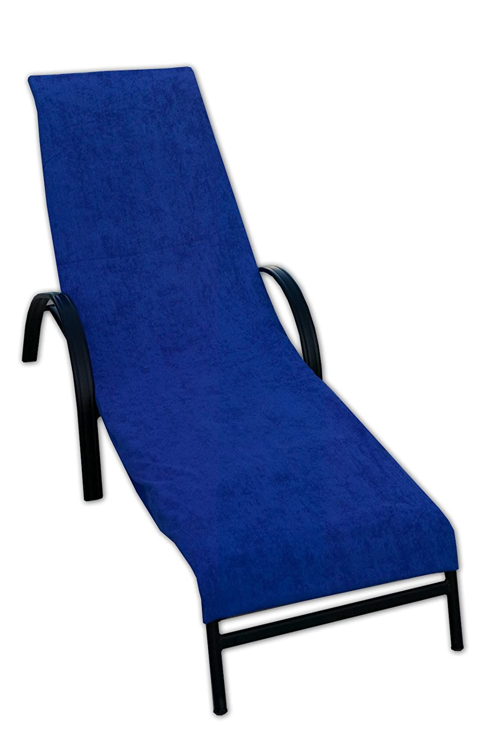 Amazon Terry Lounge Chair Cover Royal Blue Home & Kitchen