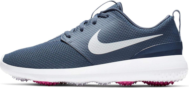 Amazon Com Nike Roshe G Spikeless Golf Shoes 2019 Women Monsoon Blue Metallic White White Medium Golf