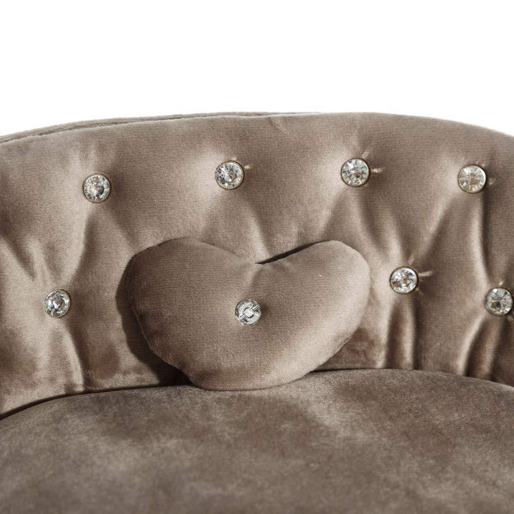 Sillón joyero tapizado de Terciopelo Beige Vintage para ...