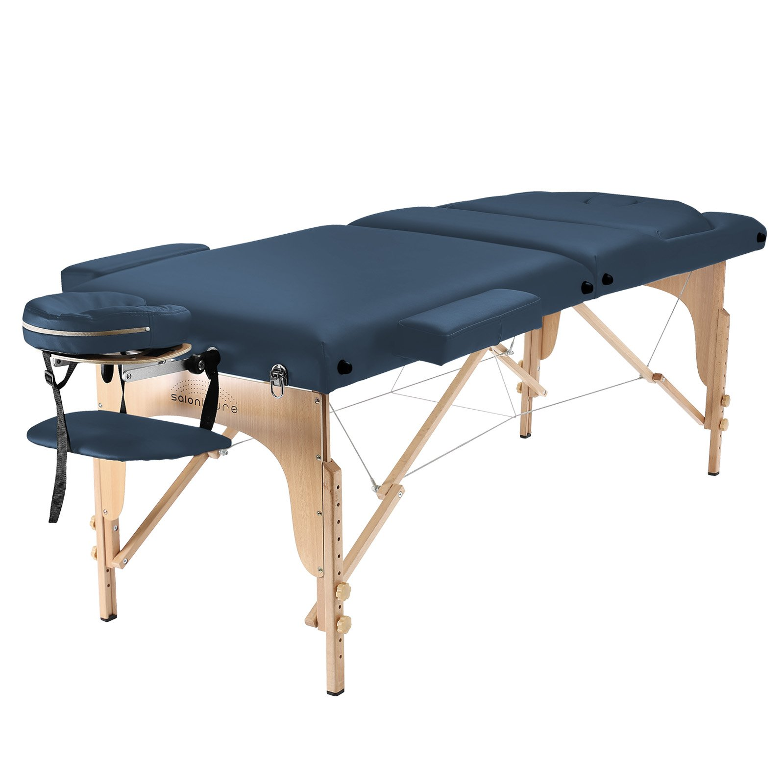 Saloniture Professional Portable Massage Table with Backrest - Blue by Saloniture (Image #2)
