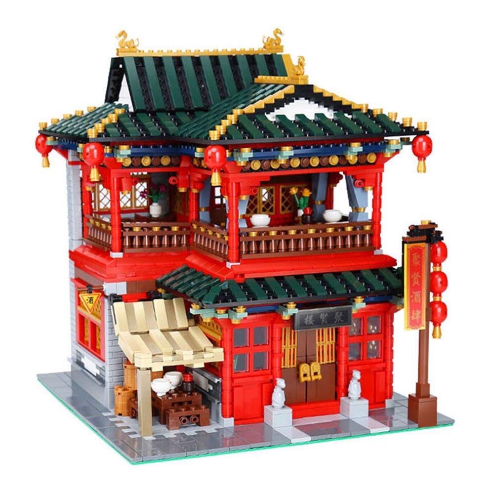 Xingbao MOC Creative Series 01002 The Beautiful Tavern Set Children Educational Building Blocks Bricks Boy Toys Model Gift(3267Pcs)