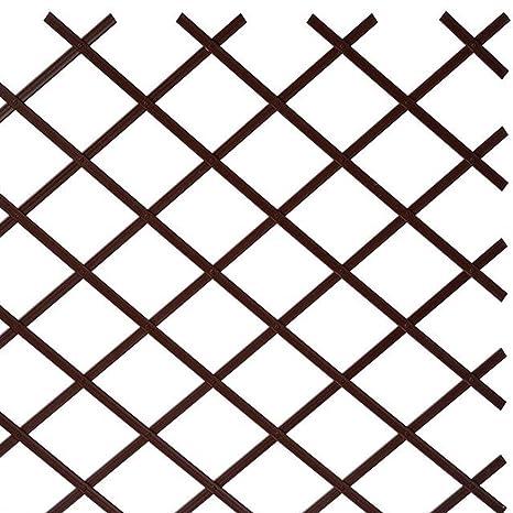 Grigliati Per Giardino In Plastica.Sti Traliccio In Plastica Marrone Grigliato Estensibile 100x100 Cm