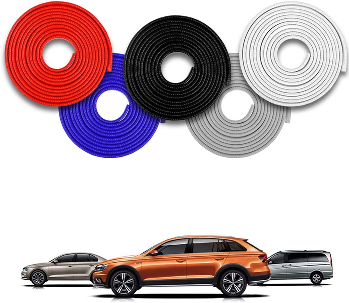 Dibiao Noise Reduction Anti-Scratch Seal Strip fit for Most Car,16.4ft U Shape Edge Trim Car Door Edge Guard Protector,Seal Strips Car