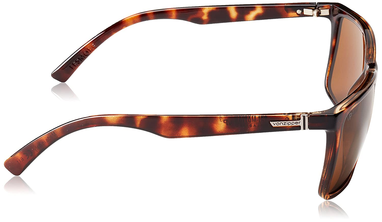 3b8817e278 Amazon.com  Von Zipper Lesmore Wildlife Polarized Plus Sunglasses-Black  Satin-Gold Flash  Clothing