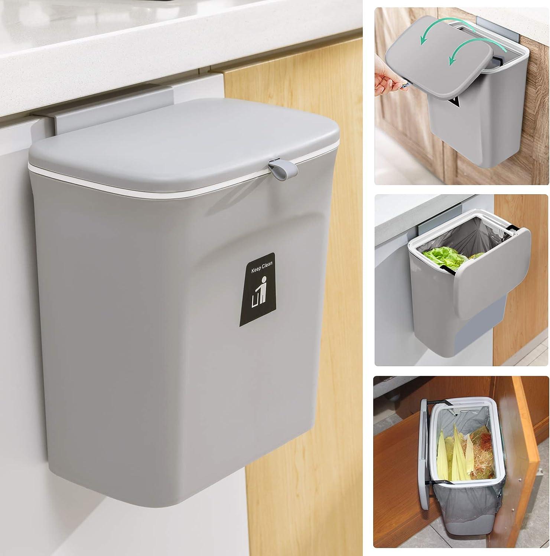 Tiyafuro Kitchen Countertop or Under-sink Compost Bin