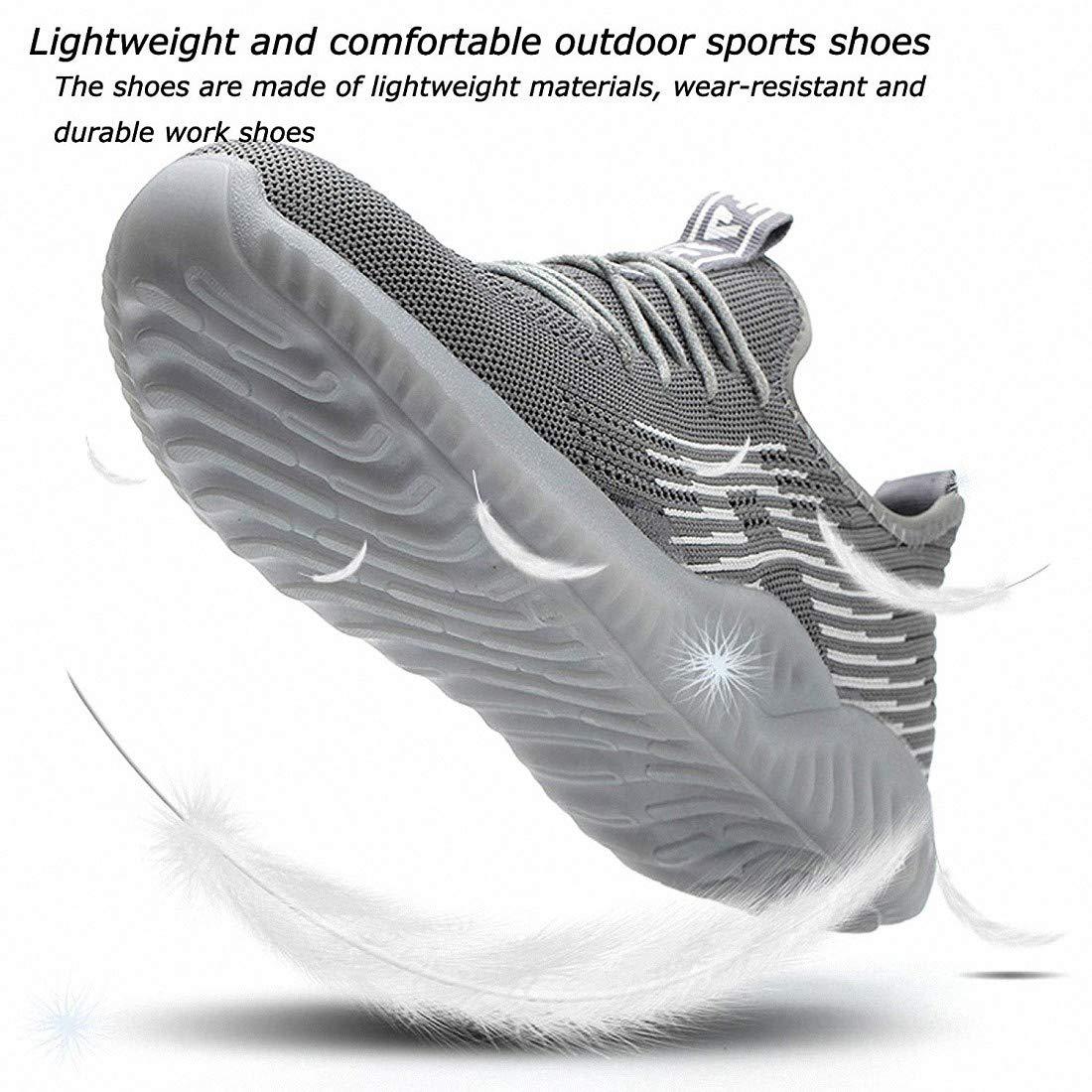 Safety Shoes Men Women Trainers Lightweight Breathable Work Shoes Steel Toe Caps Footwear Road Running Walking Sneakers