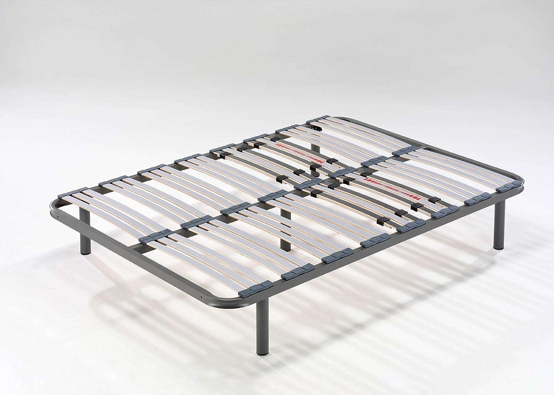 HOGAR24 ES Somier Multiláminas con Reguladores Lumbares, 150x190 cm (5 Patas de 32 cm Incluidas)