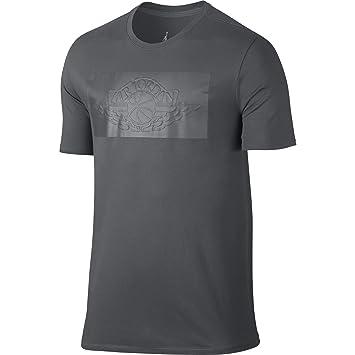 541c91aea5fbdf Nike Men s Air Jordan 31 Modern Wings Tee Dark Grey Black Medium ...
