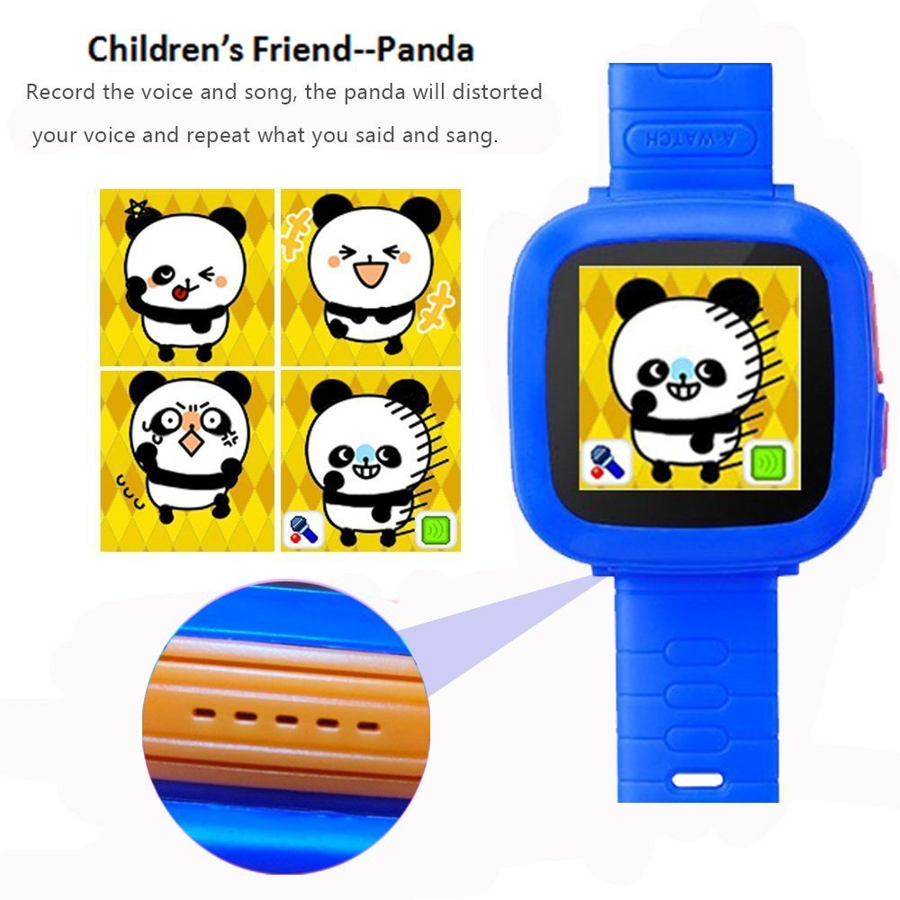 MIMLI Smart Watch for Kids Girls Boys,Smart Game Watch with Camera Touch Screen Pedometer,Kids Smart Watch Perfect Holiday Birthday Toys Gifts (Dark Blue) by MIMLI (Image #4)