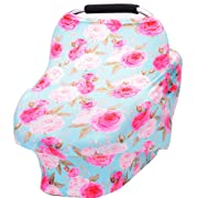 Baby car seat Cover Breastfeeding Cover carseat Covers for Girls and Boys (Flower)