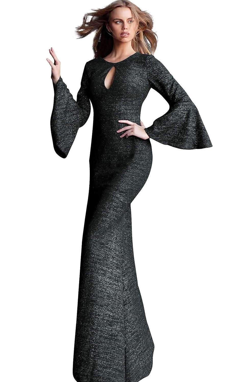 5edccbb59d09 Jovani - 61104 Glitter Long Bell Sleeve Mermaid Dress with Train at Amazon  Women's Clothing store: