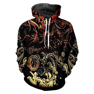 Mens Sweatshirt Jumper Floral Leaf Sublimation Print Fashion Top